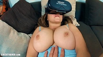 Busty Britney Big Butts Busted While Watching VR Porn