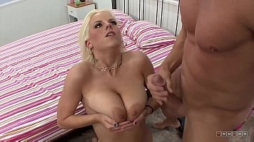 Jiggling Tits Blonde Rides Huge Fat Cock