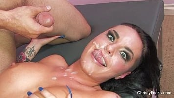Christy Mack Masked With Cum