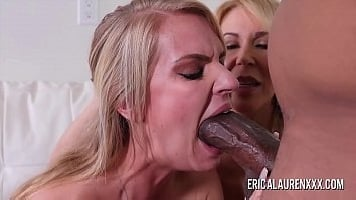 Mom Shares Black Cock With StepDaughter