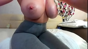 Giant Tits Cam-Show In Wet Yoga Pants [SOLO]
