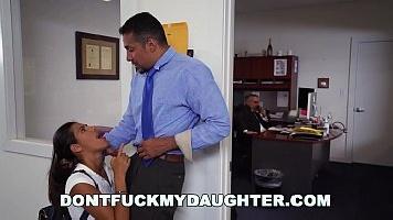 Naughty Latina Fucks Dad's Employee