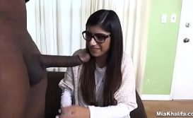 Nervous Mia Khalifa Try Monster BBC First Time