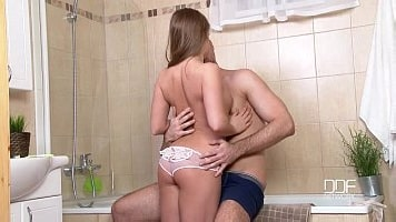 Perfect Russian Teen Barebacked In Bathroom