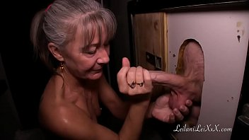 Old Granny Visits Glory Hole For First Time